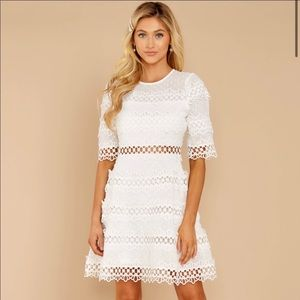 Red Dress Boutique Poetic Situation White Lace